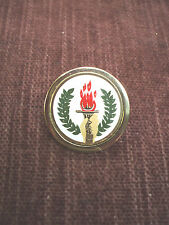 medal trophy award torch pin 1""