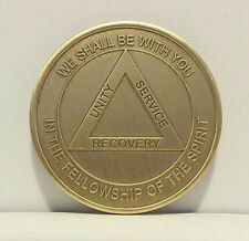 Alcoholic Eternity Recovery Coin Chip Medallion Medal Token  AA Anonymous-Bronze