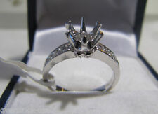 Perfect Platinum 900 / 0.139CT Diamond Engagement Ring Setting