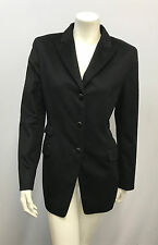 LUCIANO BARBERA JACKET Black Suede Elbow Pads Orylag Wool and Cashgora 40 Small