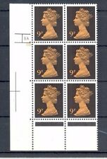 GB Decimal Machin 9p, cyl. 8A 6B,  2 x phos bands, SG X882, MNH lovely condition