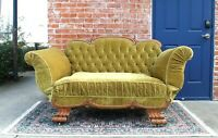 American Antique Oak Bench / Sofa / Day Bed