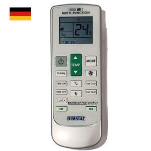 Universal Fernbedienung für Klimaanlage Ersatz für 1000 Marken und Modelle AC RC