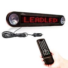 Dc 12v Remote Program LED Car Sign Scrolling Moving Message Display Board (Red)