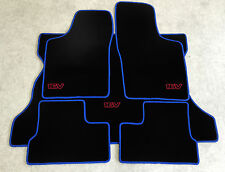 Autoteppich Kofferraum Set für Opel Kadett E Cabrio 16V  blau rot Neu 5teilig