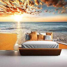 Sea Sunset Beach Full Wall Mural Photo Wallpaper Printing 3D Decor Kid Home
