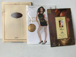 Victorias Secret Lot Signature Collection Sheer  Lace Trim Thigh Stocking L Lot