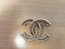 01d462666a29 CHANEL LIGHT GOLD BROOCH/PIN WITH DIAMONTIES - NEW - AUTHENTIC