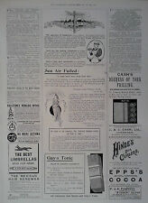 1897 ADVERT GUY'S TONIC-THE MEXICAN HAIR RENEWER-CASH'S DUCHESS OF YORK FRILLING