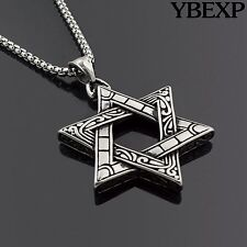 Silver chains necklaces pendants for men ebay mens stainless steel silver star of david pendant 24 round box necklace chain aloadofball Images