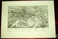 Bamberg alte Ansicht Merian Druck Stich 1650 Bayern Franken Städteansicht Bayern
