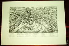 Bamberg: alte Ansicht Merian Druck Stich 1650 Bayern Franken