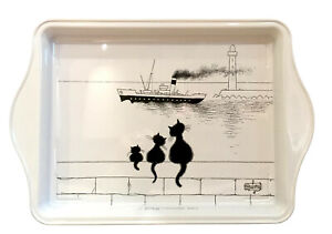 Dubout Cats - Threesome Metal Scatter Tray Serving Dish Platter Cat (Bateau)