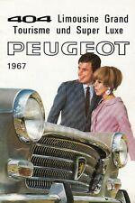 PEUGEOT 404 Limousine Tourisme GT Super Luxe Prospekt Brochure 1967 22
