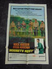 "Rock Hudson Sylva Koscina Hornet's Nest Original 27x41"" One Sheet Poster #M6386"