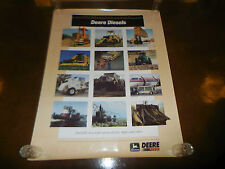 "Original John Deere Dealer Diesel Power Systems Poster Sign 38"" X 50"" Huge"