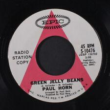 "PAUL HORN: green jelly beans / dancing children Epic 7"" Single"