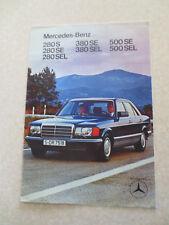 Mercedes 280 S 280 SE 280 SEL 380 SEL 380 SE 500 SE 500 SEL brochure