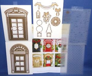 Door Dies & Decorations 2 Embossing Folders 2 Doors 13pcs HTF by Anna Griffin