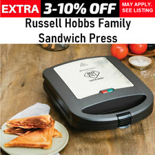 Sandwich Press 4x Jaffle Maker Toaster Large Toasted Big Fill Toastie Grill