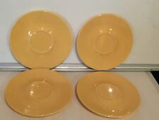 Pottery Barn Yellow Set of 4 Saucers Plates
