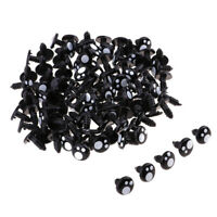 100pcs Black Plastic Safety Eyes For Teddy Bear Animal Puppet DIY Craft 12MM