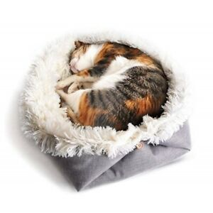 Allacki Soft Plush 2 In 1 Blanket Pad Dog Cat Bed Pet Winter Warm