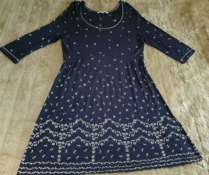SIZE 16 FATFACE ALINE DRESS,SCOOPED,HIGH W,SOFT/STRETCHY, SUPERB CONDITION