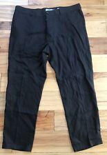 VINCE MEN'S Black Hemp Cropped Relaxed Trouser Pants 36 $225 New