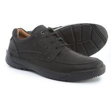 Ecco Men's Dason Sz US 11 M / EU 45 Black Leather Moc Toe Oxfords Shoes $170.00