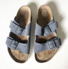Mens Grey Suede Nubuck Birkenstocks Size 41