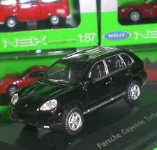 WELLY NEX MODELS JEEP PORSCHE CAYENNE TURBO DIECAST PC BOX SCALE 1:87 HO NEW OVP