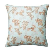 CORAL REEF BLUE EURO SHAM : 100% COTTON UNDER THE SEA SHELLS BEACH HOUSE OCEAN