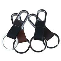Leather Key Chain Ring Rope Fob Waist Belt Keyfob Car Keyring Keychain Men Gift