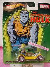 2014 Marvel Hot Wheels A-OK 💫Green/Yellow∞INCREDIBLE HULK∞Pop Culture☆RealRider
