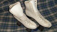 Vintage Roller Derby Skates Size 8 With Blue Urethane Wheels Good Condition