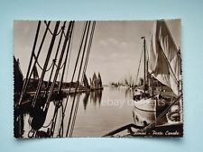 RIMINI Porto Canale barca vela pesca vecchia cartolina 4