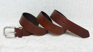 Women's Belt - BROWN Leather - EMBOSSED FLORAL DESIGN - Size XXL
