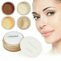 PHOERA Loose Face Translucent No Filter Setting Powder Foundation Makeup + Puff