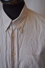 Ben Sherman beige short sleeve shirt size medium casual mod skin