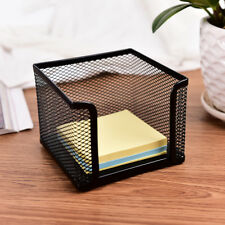 Metal Mesh Office Supplies Storage Rack Mail Organizer Memo Pad Holder Blac
