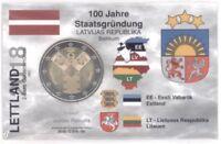 2 Euro Coincard / Infokarte Lettland 2018 Unabhängigkeit