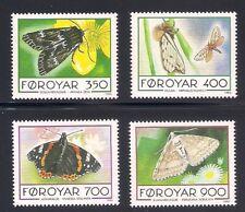 Faroe Is. 1993  Sc # 256-59  Butterflies  MNH   (43792)