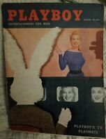 Playboy - March, 1956  * Very Good Condition * Free Shipping USA