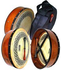 "Deura 14"" Irish Bodhran With Case and Beater Celtic Circle Drum"