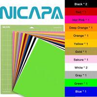 "Nicapa Heat Transfer Vinyl Bundles for Cricut&Silhouette Crafting ,14Pcs 12""x12"""