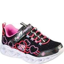 Skechers Girl's Heart Lights - Love Mania [ Black ] 302080L-BKMT