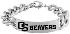OREGON STATE BEAVERS OSU * Stainless Steel ID Bracelet with Logo * NCAA Jewelry