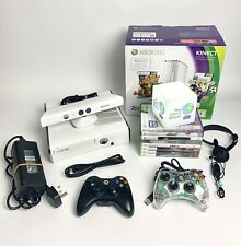 Xbox 360 White Slim 4GB Boxed Console Bundle - 8 Games - 2 Controllers - H1