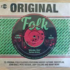 3CD NEW - ORIGINAL FOLK - Pop Music 3x CD Album - Dylan Baez Seeger Guthrie